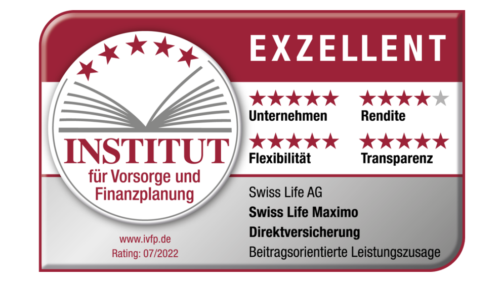Swiss Life Maximo Direktversicherung | IVFP, Rating 05/2019