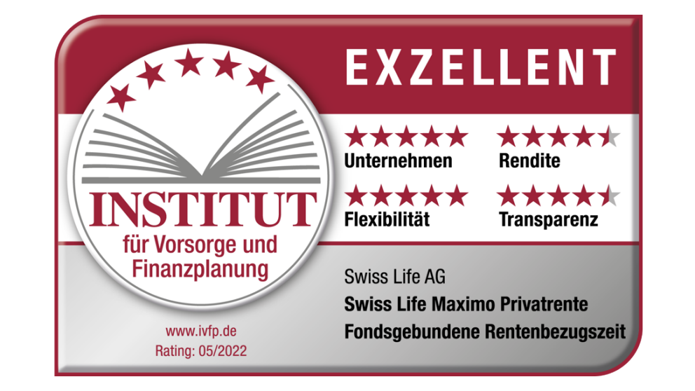 Swiss Life Maximo Privatrente | IVFP, Rating 08/2019