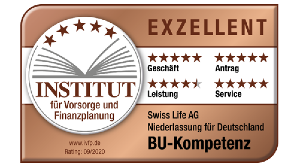 Swiss Life BU-Kompetenz | IVFP, Rating 09/2020